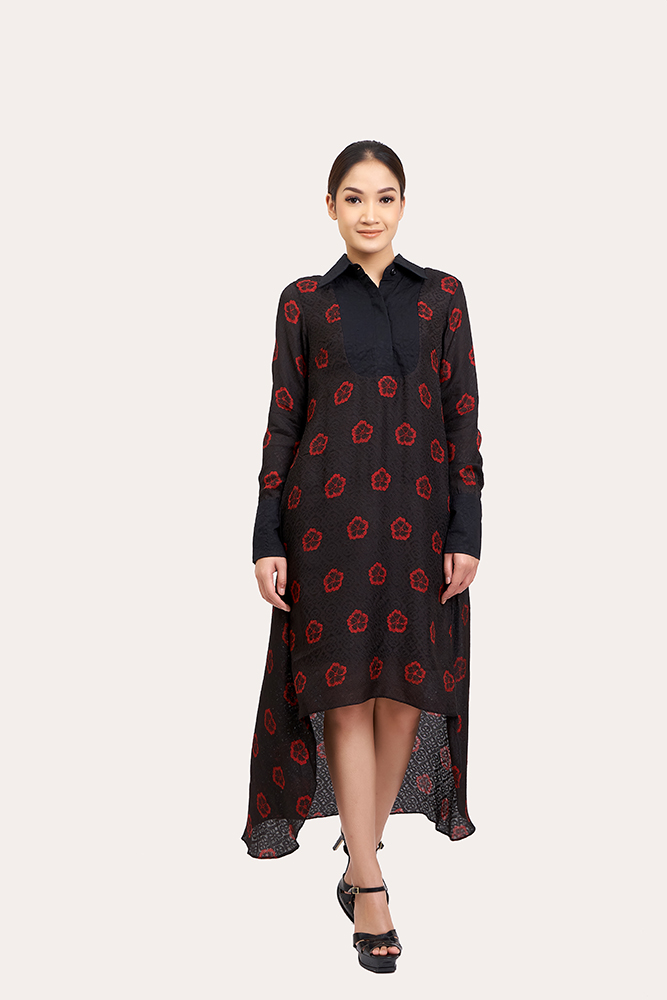 Long Sleeve Batik Dress