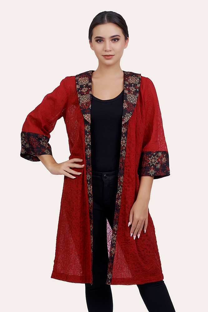 Long Sleeve Batik Outer