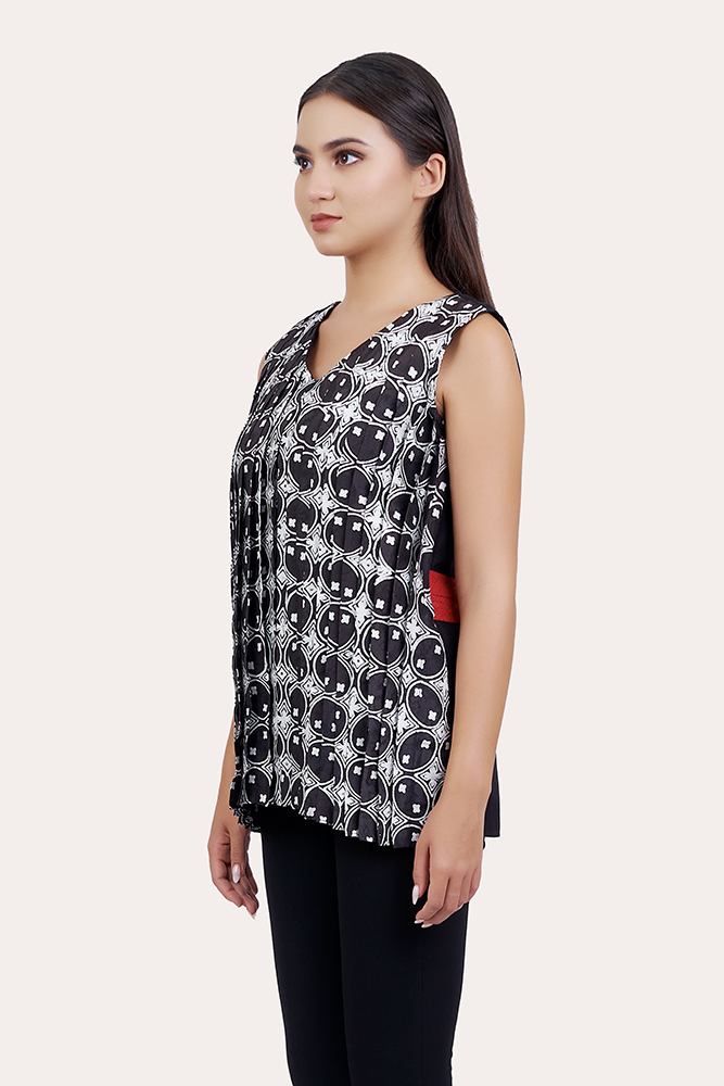 Sleeveless Batik Blouse