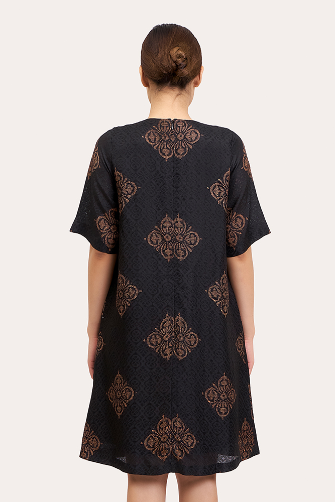 Short Sleeve Batik Dress
