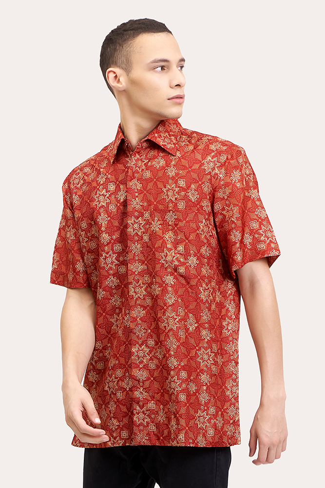 Short Sleeve Batik Shirt