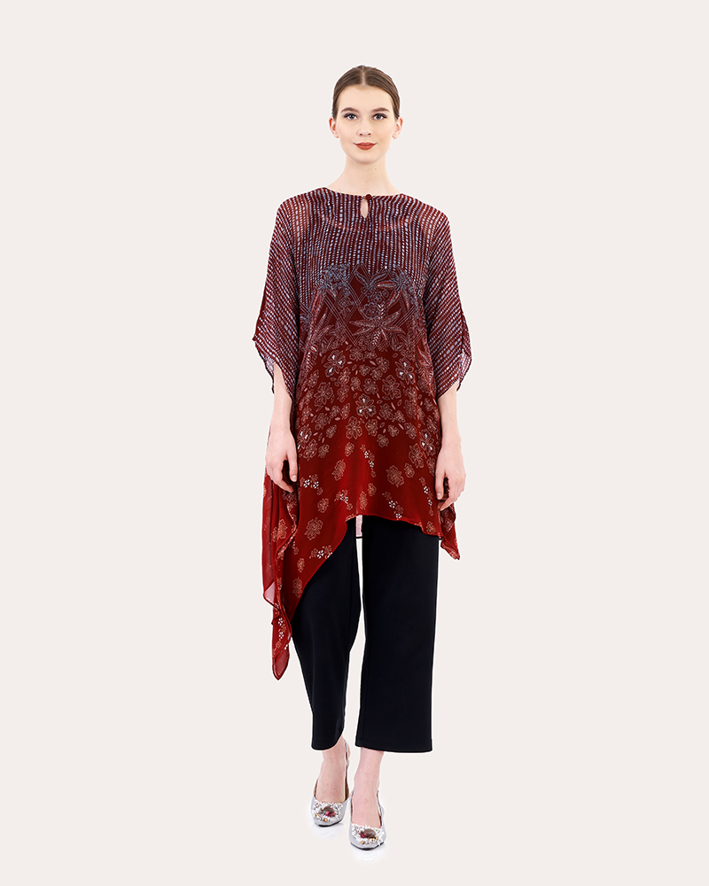 Long Sleeveless Batik Tunics