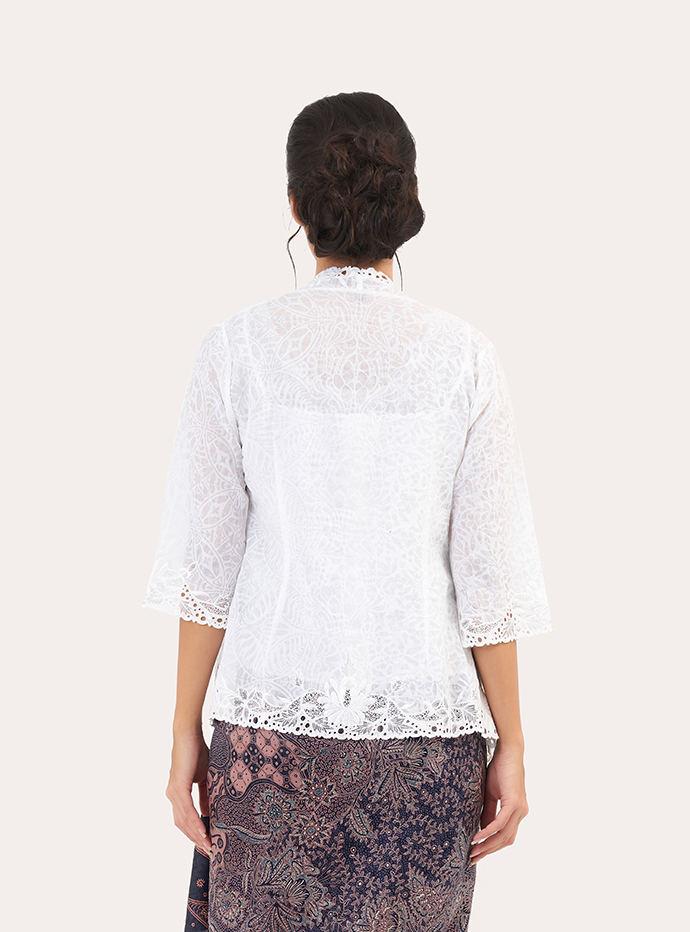 Long Sleeve Embossed Batik Kebaya